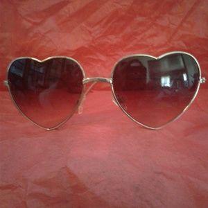 💥💜 Purple Heart Wire Rim Sunglasses 💜